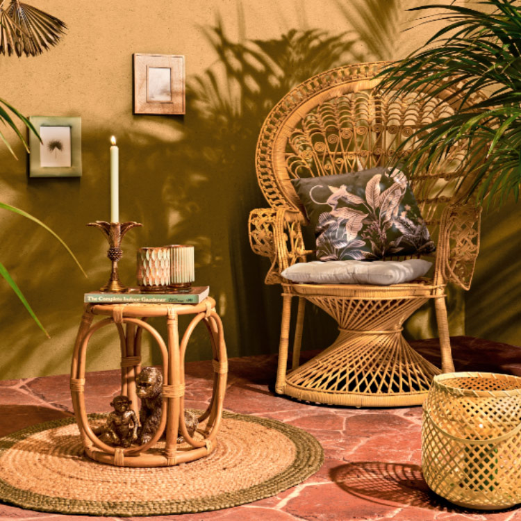 Ozdoby na taras i balkon w stylu safari lodge
