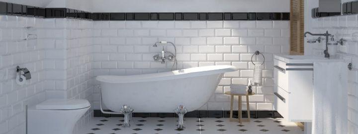 Łazienka z płytkami tamoe