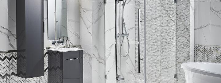 Nowoczesna łazienka z płytkami