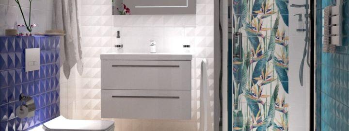 Wyrazista łazienka z dekorem