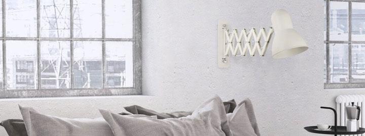Oświetlenie w sypialni w stylu loft