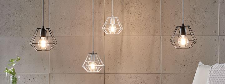 Oświetlenie we wnętrzu w stylu loft