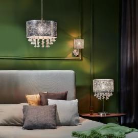 Oświetlenie do sypialni w stylu glamour