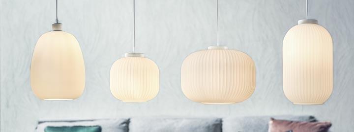 Lampy szklane w różnych kształtach