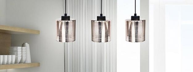 Szklana lampa do kuchni