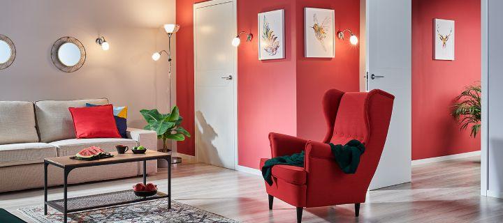 Nowoczesny salon z kolorami