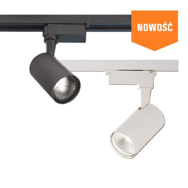 Zestaw systemu szynowego z 4 reflektorami LED czarny 5W 420 lm 4000K
