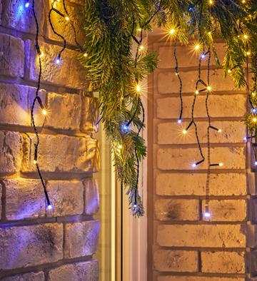 Kurtyna LED wew/zew zimny biały 100L