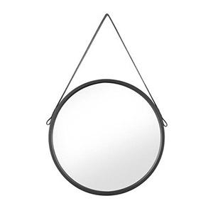 Lustro Round okrągłe czarne 50 x 50 cm