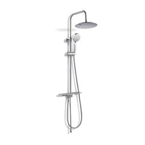 Baliv Kolumna prysznicowa z deszczownicą, KBS-8100 półka chrom śr. 23 cm