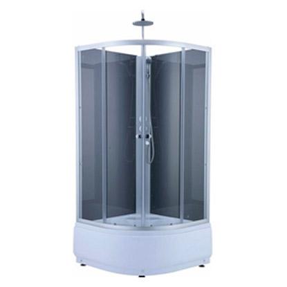 Kabina prysznicowa Fella z hydromasażem i brodzikiem 80 x 80 x 235 cm