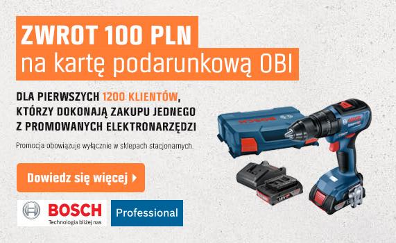 Zwrot 100 PLN na kartę podarunkową OBI
