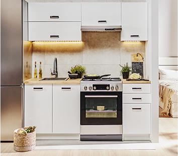 Zestaw mebli kuchennych NAPOLI 180 cm 5-elementowy biały