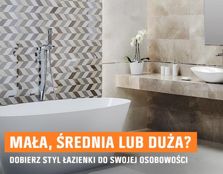 Mała, średnia lub duża? Dobrze styl łazienki do swojej osobowości.