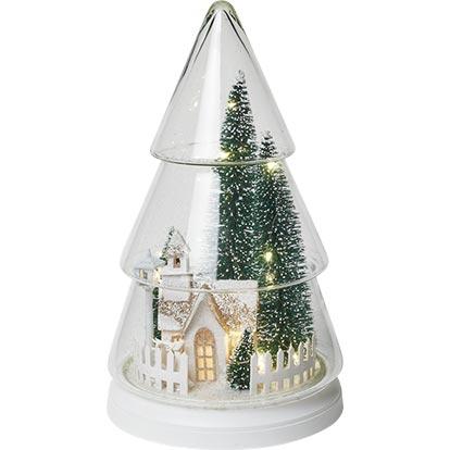 Ozdoba świąteczna szklana podświetla 19 x 19 x 32 cm