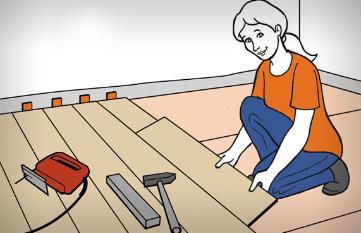 Układanie paneli podłogowych w 13 krokach