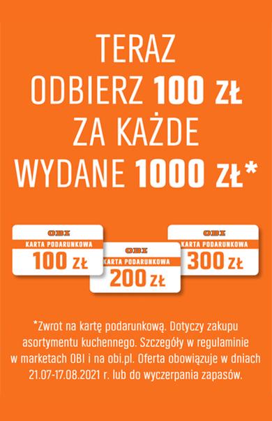 Odbierz 100zł za kazde wydane 1000zł