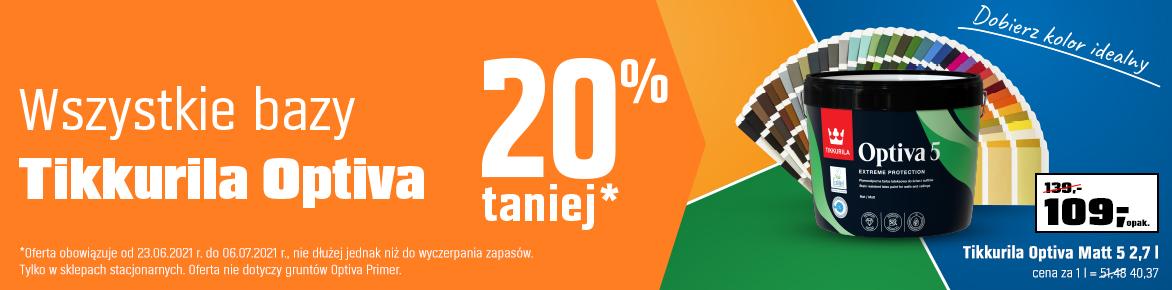 Wszystkie bazy Tikkurila Optiva 25% taniej