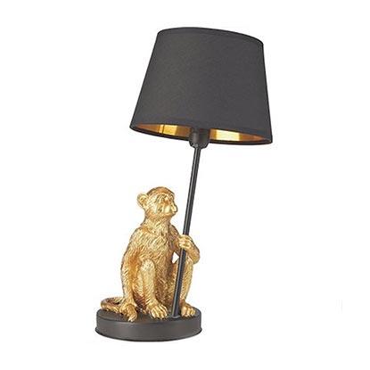 Lampka MONKEY czarnozłota 1x40 W E14