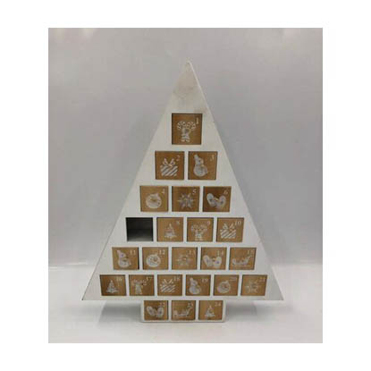 Drewniany kalendarz adwentowy piramida 34 x 5 x 41 cm