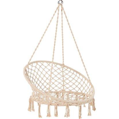 Fotel podwieszany Weslaco bawełna 100x100x118 cm