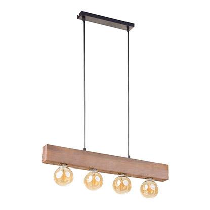 TK Ligthing Lampa sufitowa Artwood 4x60W E27