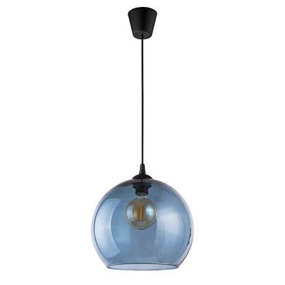TK Lighting Lampa sufitowa CUBUS transparentna niebieska 1x60W E27