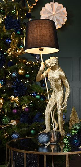 Lampa stołowa Exotic Jungle złota 32 x 27 x 8 cm