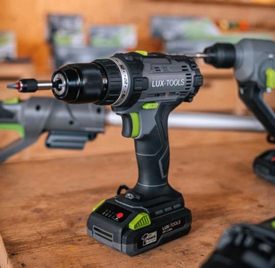 Lux-Tools Wiertarko-wkrętarka akumulatorowa 20V 2 x 2Ah