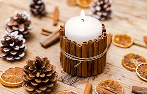 Cynamonowa świeca